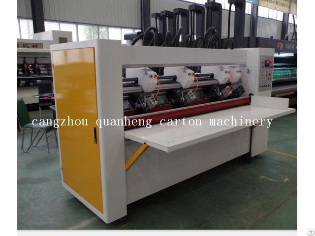 Qh High Speed Corrugated Cardboard Thin Blade Slitter Scorer Machine