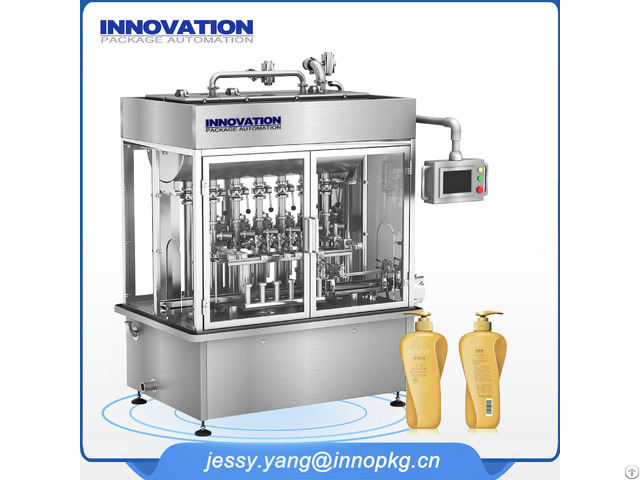 High Efficiency Shampoo And Lotion Filling Machine 6 Heads
