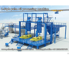 Small Scale Palm Oil Making Machine With Capacity 1 5tph