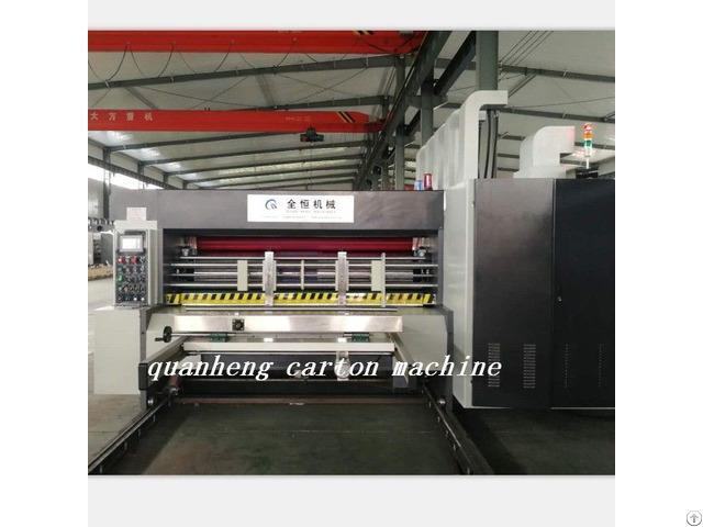 Qh High Speed Corrugated Carton Lead Edge Feeder Flexo Printing Die Cutting Machine
