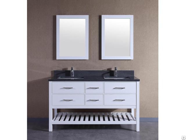 American Solid Wood Double Sinks Bathroom Vanity