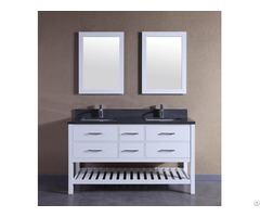 American Solid Wood Double Sinks Bathroom Vanity