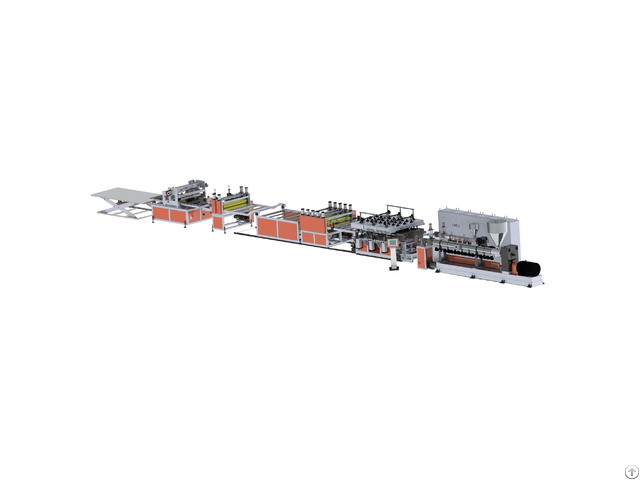Pp Hollow Building Plate Extrusion Line