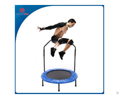 Createfun Factory Supply Round Folding Mini Trampoline With Handle Bar