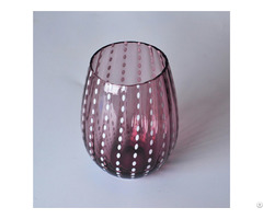 Colored Decorative Glass Candle Holders