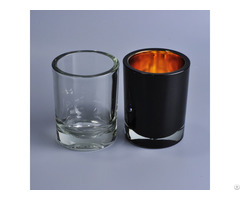 Cylinder Spray Black Glass Candle Jars