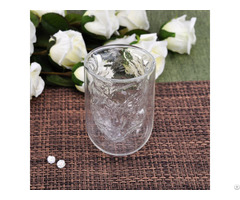 Double Wall Glass Tumbler With Irregular Inner