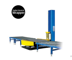 Small Footprint Online Pallet Wrapping Machine Turntable Stretch Wrapper