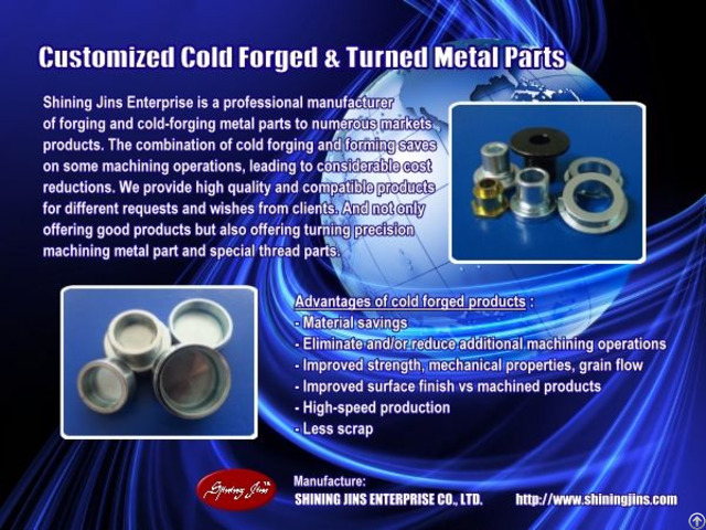 Fasteners Customized Cold Forged And Turned Products