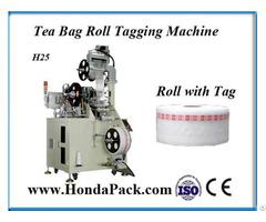 Pyramid Tea Bag Rolls Tagging Machine