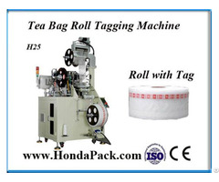 Automatic Pyramid Tea Bag Tagging Machine Ultrasonic Sealing