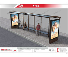 Long Bus Shelter With Clp