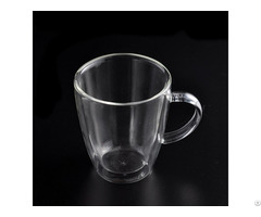 Heat Resistant Double Wall Glass Mugs For Coffee Drinking
