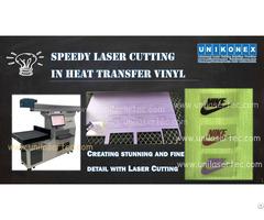 Unikonex Speedy Laser Cutter In Heat Transfer Vinyl