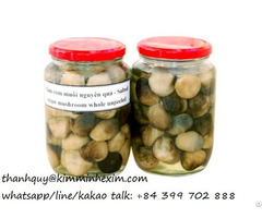 Canned Straw Mushroom Unpeeled From Vietnam To Europe Market
