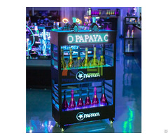Led Three Layers Champagne Cabinet Display