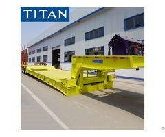 China Best Manufacturer 3 Line 6 Axle Heavy Duty Detachable Gooseneck Rgn Lowboy Trailer For Sale
