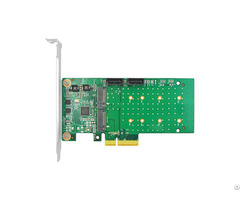Linkreal Four Lane Pcie 4 Port M 2 Sata 3 0 Adapter With Marvell Chipset 88se9215