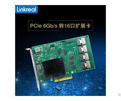 Linkreal 16 Port 6gb S Pci Express X8 To Sas Sata Expansion Card