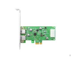 Linkreal Usb 3 0 Pcie X1 Dual Type A External Adapter Card