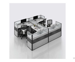 Popular Design Partition Open Cubicle Office Workstation For 4 Person