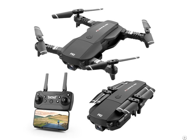 F62 2 4g Wifi 4k Hd Wide Angle Camera Rc Drone Optical Flow Gesture Control Smart Follow Quadcopter