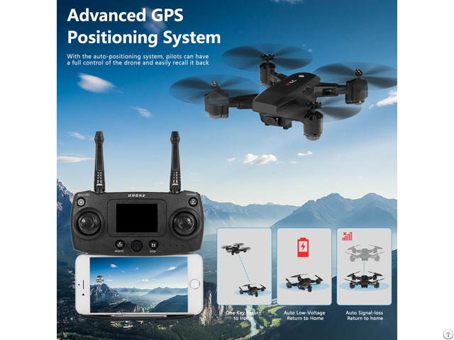 S30 1080p Hd Wifi Fpv Rc Selfie Drone Gps Positioning Follow Altitude Hold Foldable Quadcopter