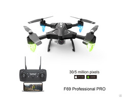 F69 Quadcopter Drone Wide Angle Wifi Remote Control With Camera High Mode Training Hd