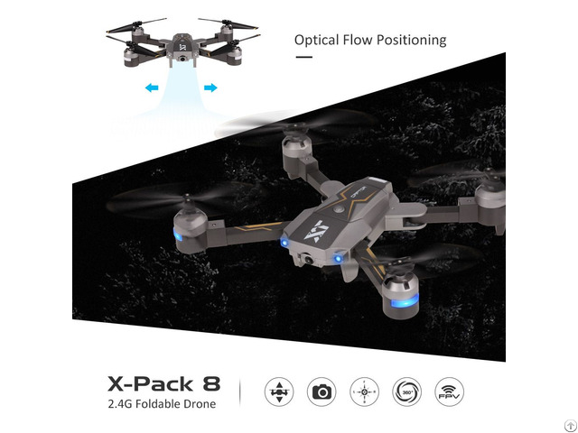 X Pack 8 Drone Altitude Hold Optical Flow Positioning Quadcopter Rc Toy Gif