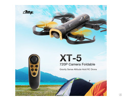 Xt 5 Foldable Wifi Fpv Gravity Sense Altitude Hold Headless Rc Quadcopter Drone