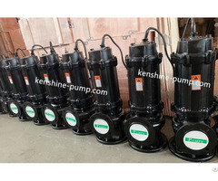 Wq Immersible Sewage Wastewater Pump