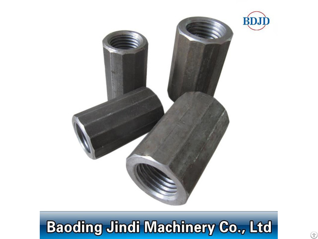 Factory Price Solid Steel Material Bar Connector Rebar Splicing Coupler D12 50