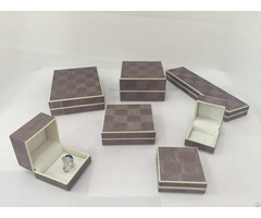 Plastic Box With Paper Material For Jewerly