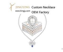 Custom Design 925 Sterling Silver Necklace Supplier
