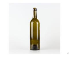 Hot Sale 1114# 750ml Screw Finish Bordeaux Wine Glass Bottle Classical Green