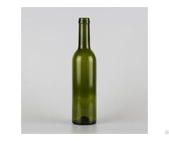 1002# 375ml Cork Finish Bordeaux Wine Bottle Classical Green