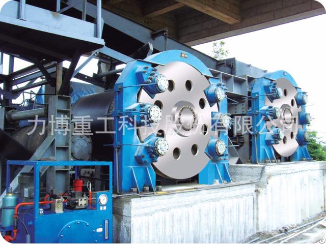 Fluid Hydraulic Control Brake Device For Downward Belt Conveyor System