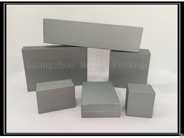 Silver Grey Six Size Jewelry Packing Box