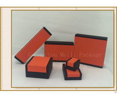New Design Orange And Black Mixed Color Jewelry Covered Box