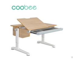 Ergonomic Formica L Shape Desktop Adjustable Table Sing Bee