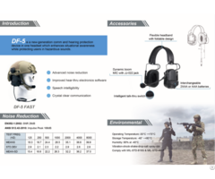 Tactical Anti Noise Military Headset Pick Up Microphonr