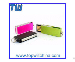 Slim Twister Oem Thumb Drive With Free Logo Printing