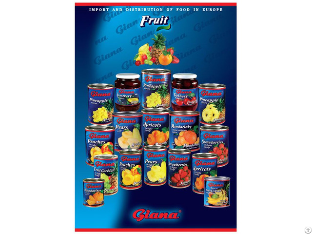 Canned Fruit Origin Slovakia