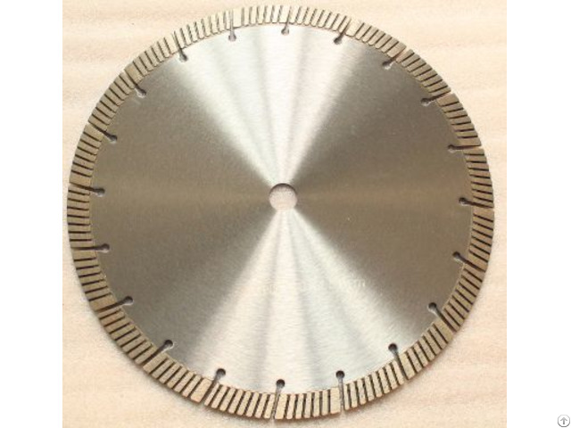 Hot Pressed Turbo Segmented Diamond Blade With Slant Slot