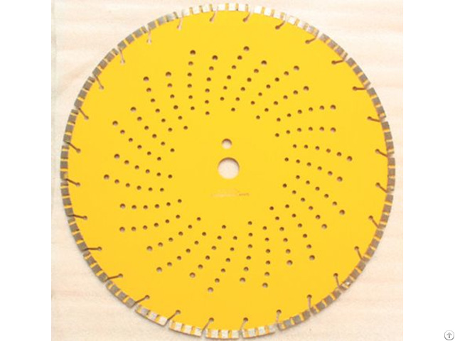 Laser Welded Turbo Segmented Diamond Blade With Slant Slot And Cooling Hole 2