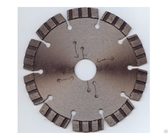 Welded Turbo Segmented Diamond Blade With Low Noise Laser Cutting Slot
