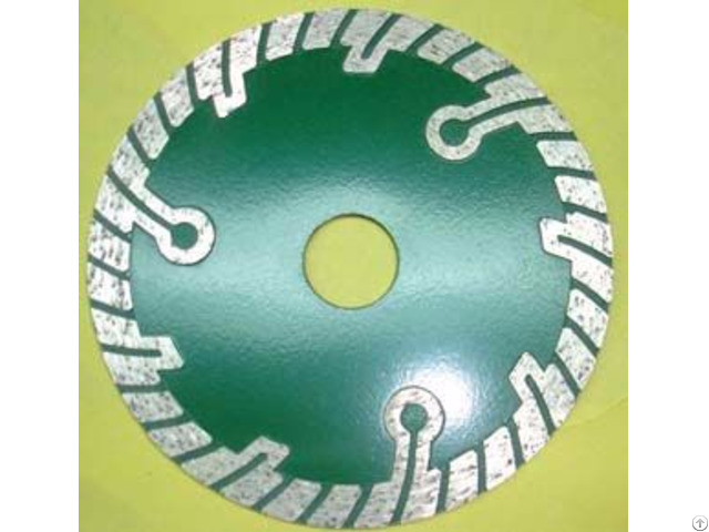 Sintered Turbo Blade With Protect Teeth For Granite