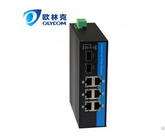 Gigabit 2fiber To 6 Utp With Poe Industrial Fiber Switch For Surveillance