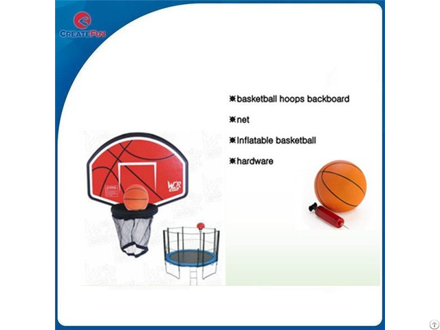 Createfun Trampoline Basketball Hoop For Sale