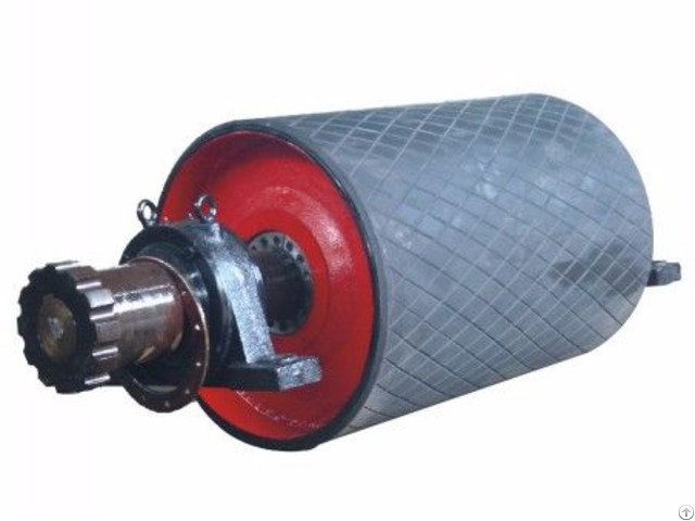 Long Life High Capacity Lagged Pulley For Belt Conveyor